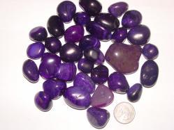 tumbled polished purple agate