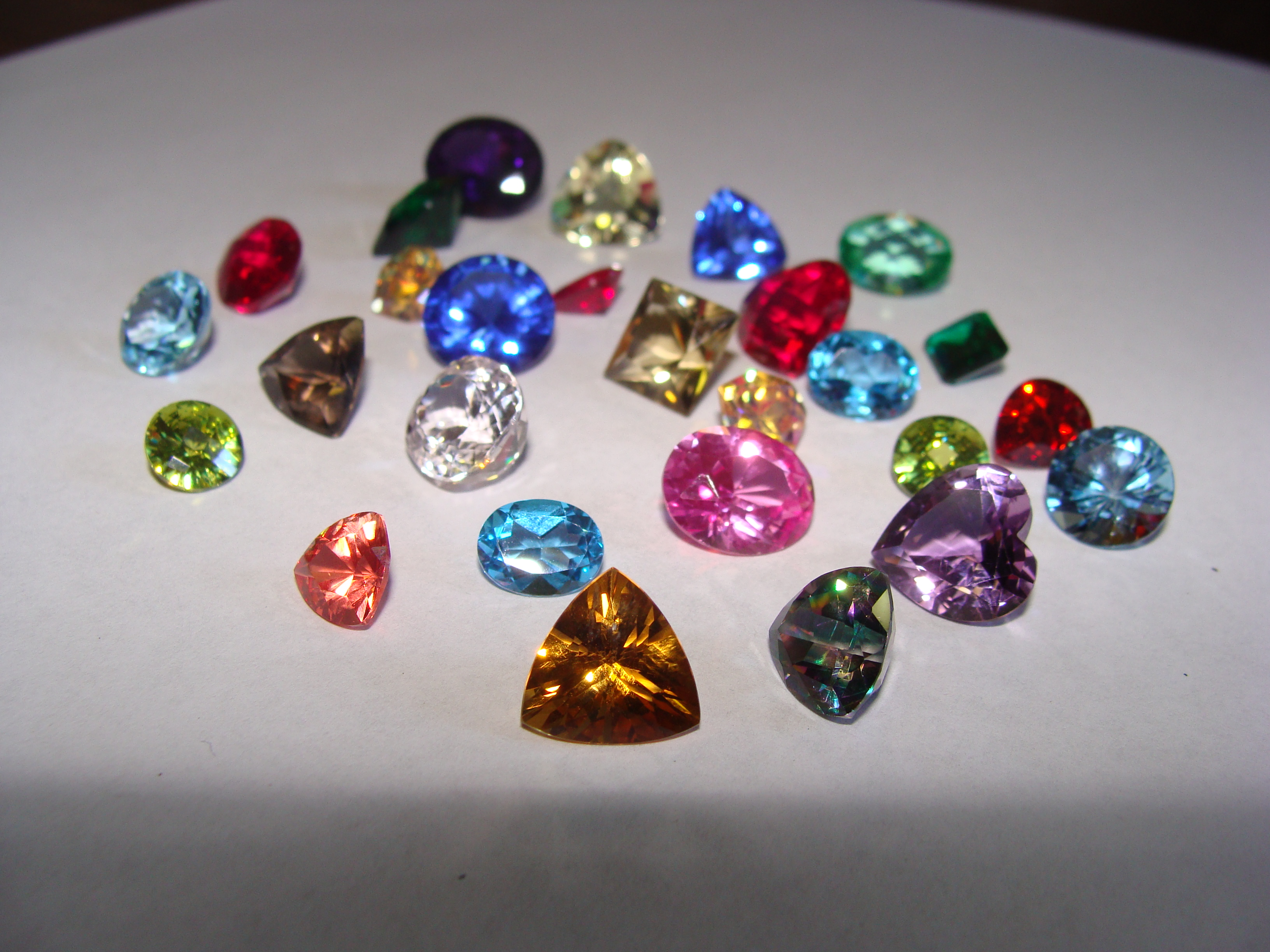 50 carats of faceted gemstones