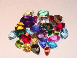 faceted gem mixed lot
