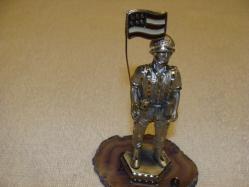 pewter figurine soldier