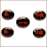faceted garnet lot