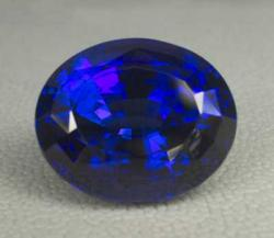 faceted tanzanite